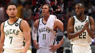 Bryn Forbes, Brook Lopez and Khris Middleton Postgame Press Conference
