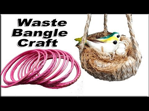 How to reuse old bangles at home | Best out of waste | JK Arts  1584