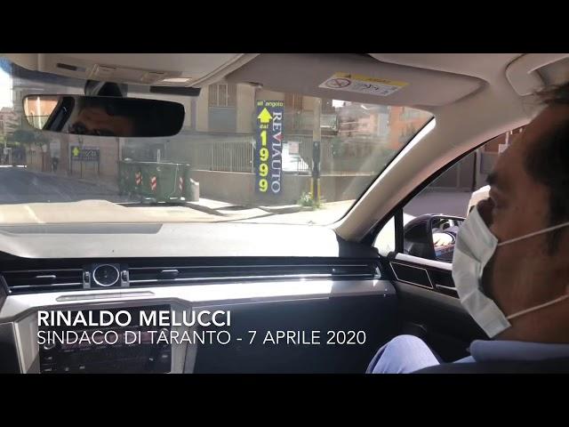 #iorestoacasa, sopralluogo del sindaco Melucci nelle strade di Taranto