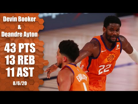 [Highlights] Devin Booker (20 Points, 10 Assists) and Deandre Ayton (23 Points, 10 Rebounds, 2 Steals, 4 Blocks) vs. Pacers Full Highlights