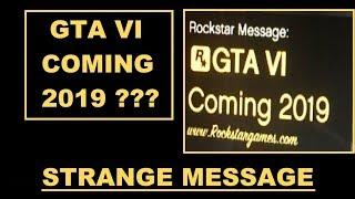 GTA 6 COMING 2019 !!!???? strange Rockstar Message in GTA 5 Online , Fugasi