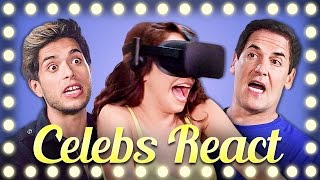 Repeat youtube video CELEBS REACT TO VR | DON'T LET GO!!!