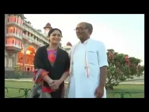 Digvijay Singh and Amrita in Mysore Palace
