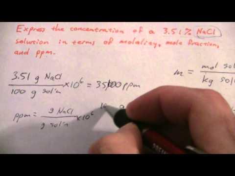 Concentration Unit Conversions (1 of 2)