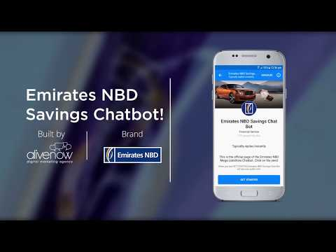 Banking and Financial Services Messenger Chatbot - Emirates NBD Facebook bot case study