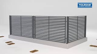 Instrukcja Montażu Przęseł na słupach metalowych i murowanych (Obejmy, Łączniki) - Polbram