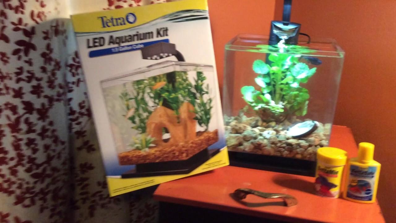 Tetra 1 5 Gallon Planted Tank Led Aquarium Cube Betta Fish River Rocks 28 Total