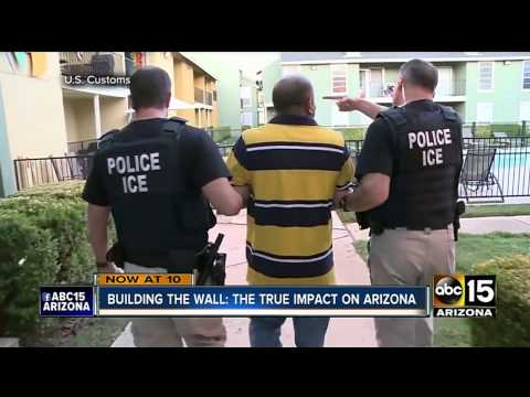 VIDEO: Illegal immigrants crossing border into AZ