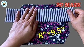 Very Easy 3D Face Mask Sewing Tutorial DIY Breathable Face Mask Sewing Tutorial Máscara 3D
