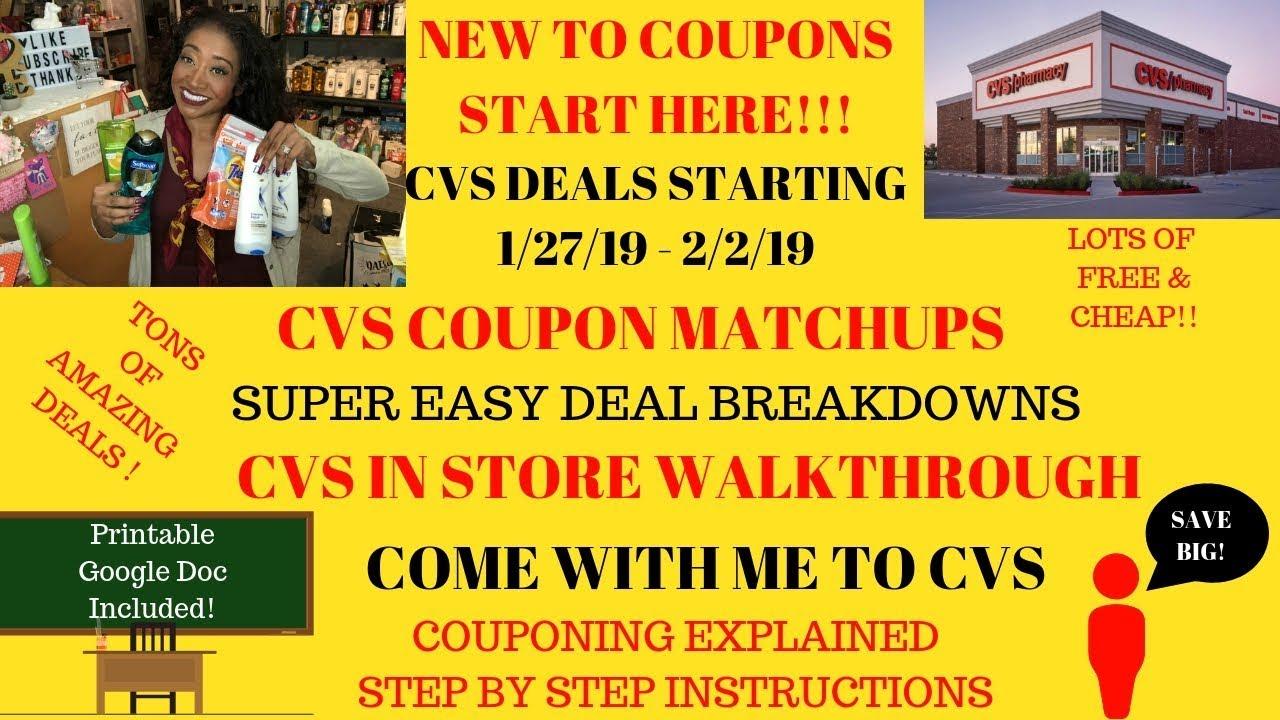 cvs coupon deals starting 1  27  19