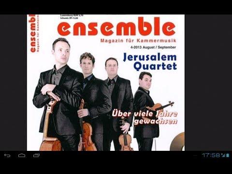 Musik Klassik Jazz ensemble Magazin 4 2013 Jerusalem Quartet
