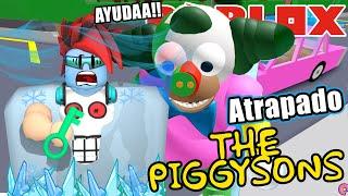 Krusty me Atrapa en Piggysons | Congelado en Piggy Simpsons | Juegos Roblox en Español
