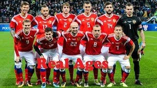 Ages of Russia National Football Team Players in 2018 World Cup | Russia in World Cup 2018