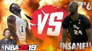 ZION WILLIAMSON VS TACKO FALL!! EPIC MARCH MADNESS GAME!! NBA 2K19