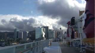 """Disney Wonder"" calling at Honolulu, Hawaii and views of beautiful Oahu on May 6, 2012"