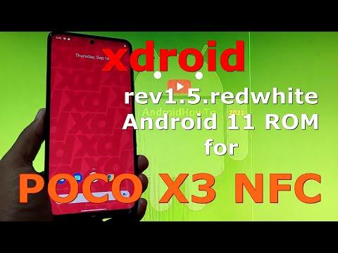 xdroid rev1.5.redwhite for Poco X3 NFC (Surya) Android 11