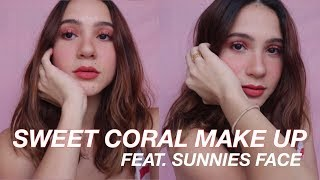 SWEET CORAL MAKE UP FEAT. SUNNIES FACE +