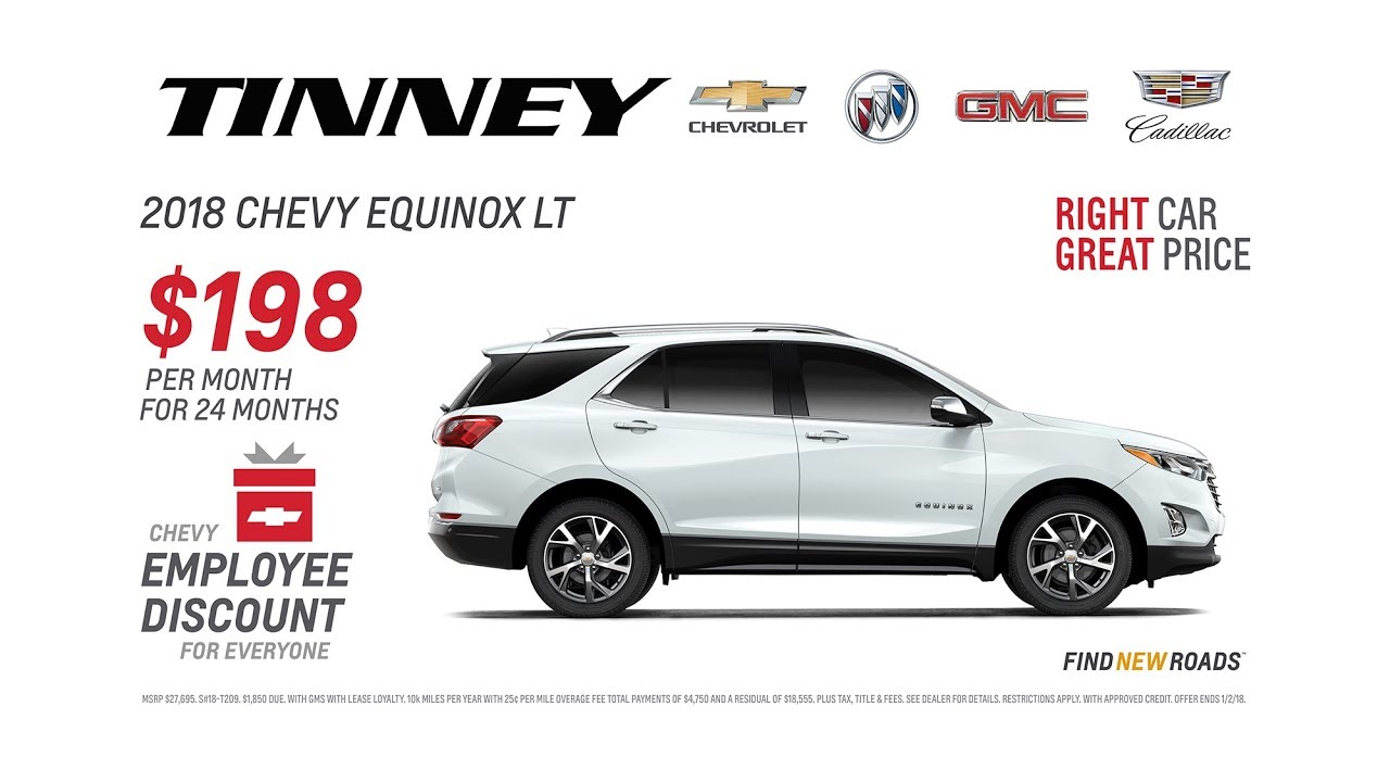 Chevy Employee Discount for EVERYONE on 2018 Equinox at Tinney Automotive  in Greenville MI