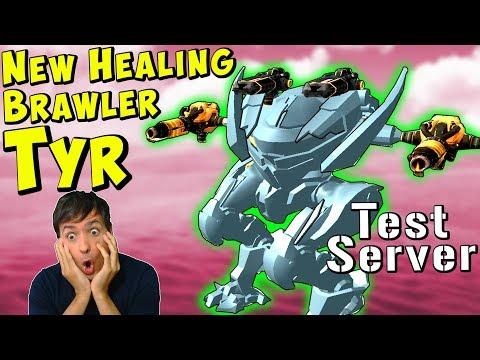 New Ragnarok Robot TYR Healing Test Server Gameplay - War Robots WR