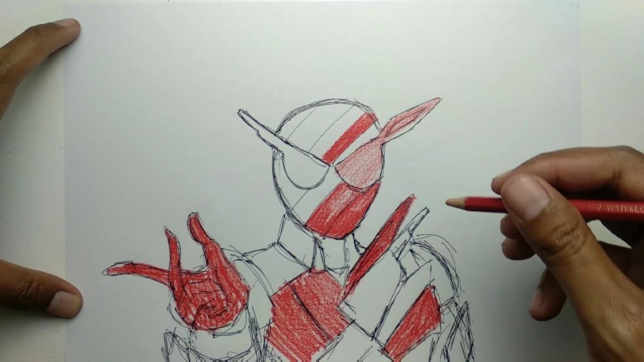 Menggambar Dan Mewarnai Kamen Rider Build Youtube