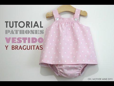 3a7dfb9f4 DIY Ropa bebé: vestido y braguita (patrones gratis) - YouTube