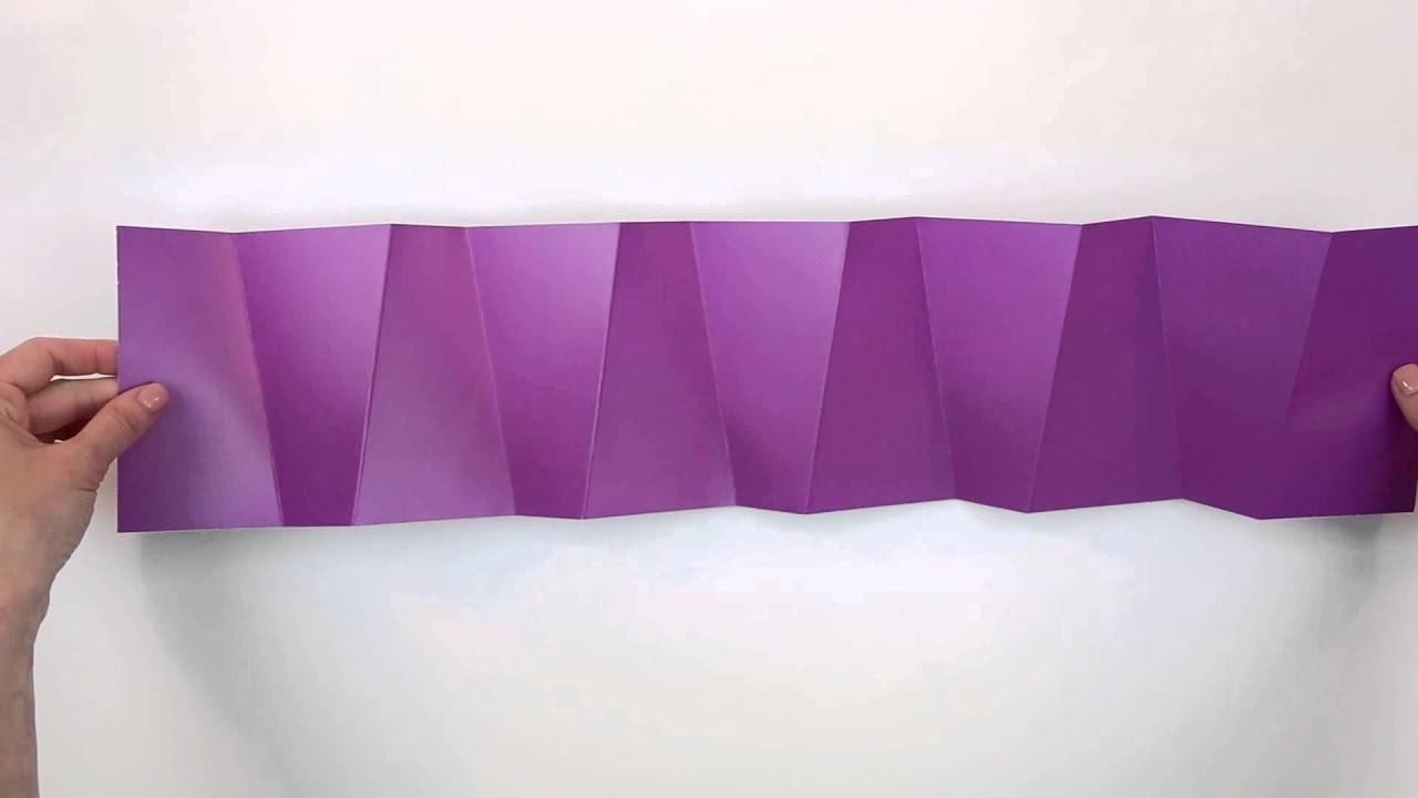 swirling accordion foldfactory super cool fold youtube
