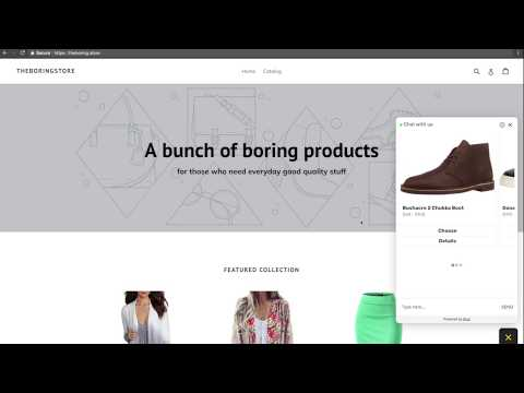 Glue demo — chatbot for Shopify stores (e-commerce chatbot)