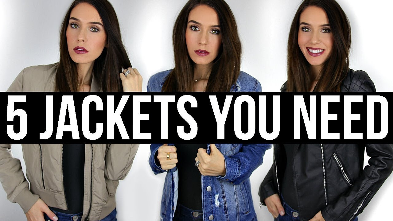 5 Jackets Every Woman NEEDS In Their Closet!