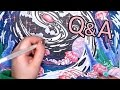 Colouring Book Page + Q&A