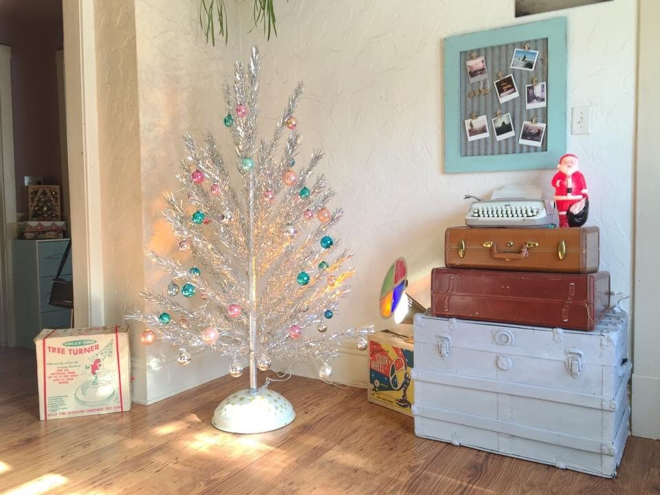 Mid-Century Aluminum Christmas Tree with Color Wheel & Turner ...