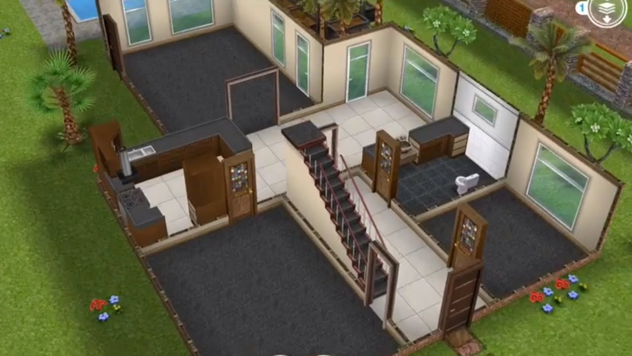 Two story unfurnished house sims freeplay