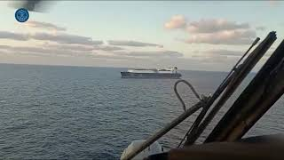 SNMG-2: On board the helicopter of frigate 'Méndez Núñez'