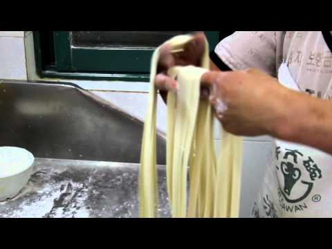 Fresh noodles made by hand at Chinese Islamic Restaurant