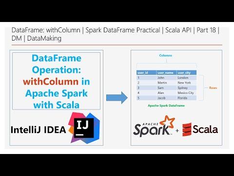 DataFrame: WithColumn   Spark DataFrame Practical   Scala API   Part 18   DM   DataMaking
