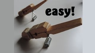 Repeat youtube video How to Make A Clothespin Toothpick Gun. (Full HD)
