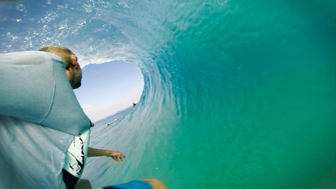 GoPro Surf Riding A Crowded Wave At Snapper Rocks YouTube - Surfing inside 27 second long barrel wave