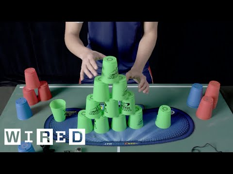 This is FAST: Cup Stacking | WIRED
