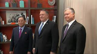 Pompeo, NKorea envoy discuss 2nd Trump-Kim summit