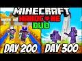 We Survived 300 Days In Hardcore Minecraft - Duo Minecraft Hardcore 300 days