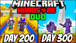 We Survived 300 Days In Hardcore Minecraft - Duo Minecraft Hardcore 300 days