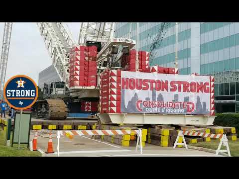 Walking A 660t Crawler With 595' Boom & Jib: Consolidated Crane & Rigging: Houston: Texas