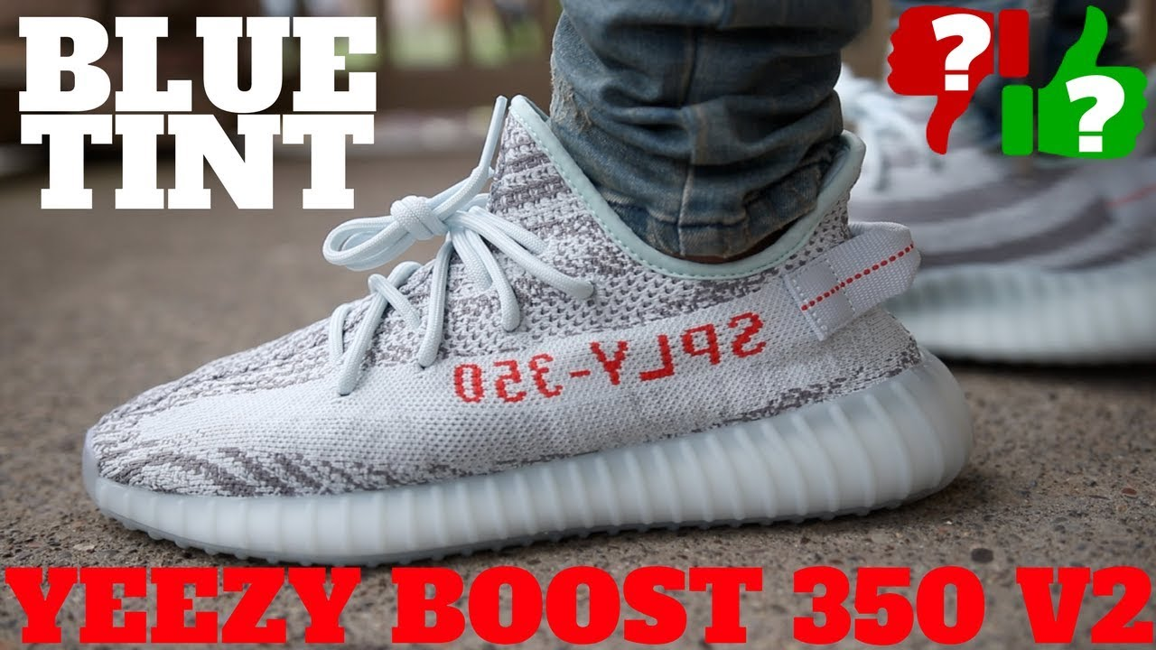 2607bac9e5026d Worth Buying!  Blue Tint Yeezy Boost 350 V2 Review! - YouTube
