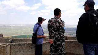 Nepalese tourists meet UN troops from Nepal. The Golan Heights…