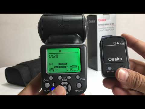 Working of wireless transmission on external flash OSAKA DF960 in HINDI