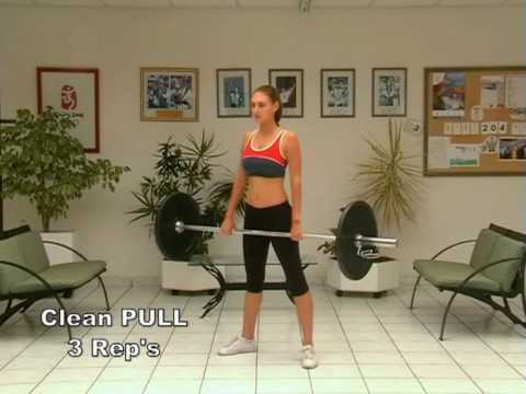 Fat Loss and Cardio Workout with Barbell Using Traditional Olympic Exercises