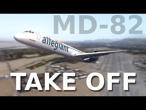 [P3Dv4] MD-80 TAKE OFF || PALM SPRINGS