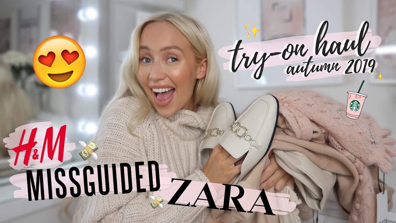 [VIDEO] - HUGE Autumn 2019 Try-On Haul! | Zara, H&M, Missguided 5