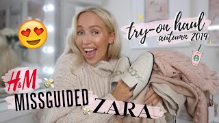 HUGE Autumn 2019 Try-On Haul! | Zara, H&M, Missguided