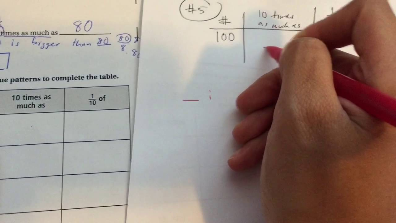 Place Value And Patterns Lesson 11