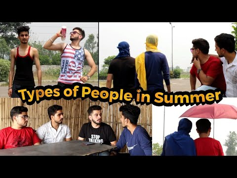 Types of People in Summer | Funny Video | PBVB